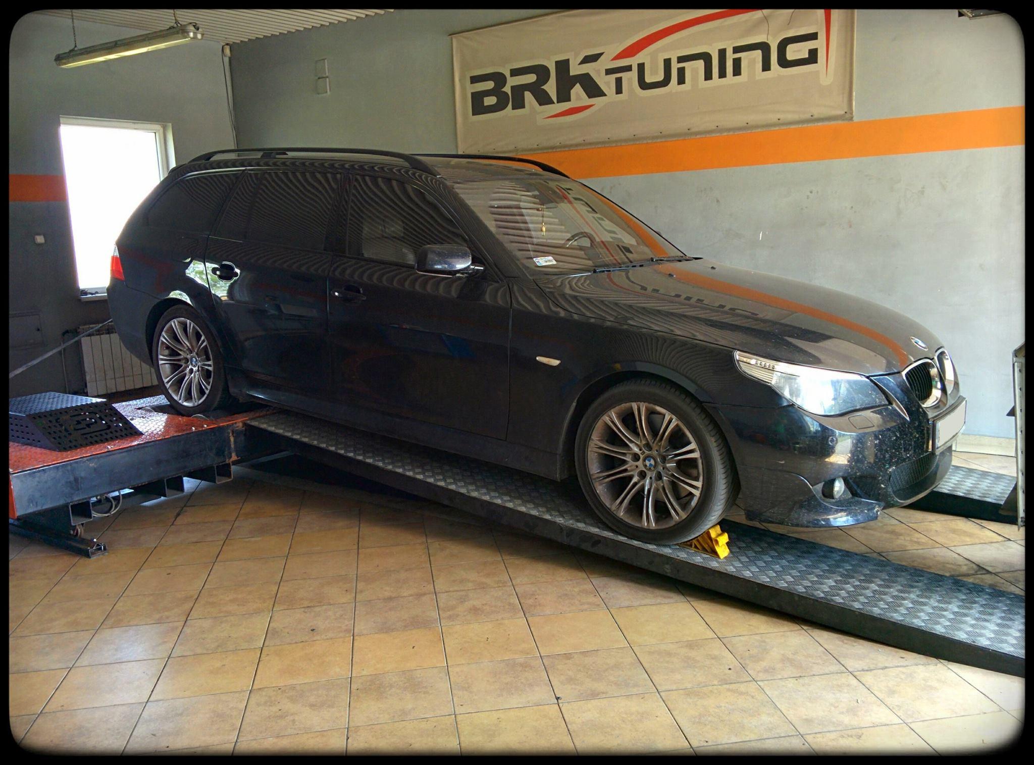 BMW E61 - po badaniu na hamowni wyraźnie widać wprzyrost mocy i momentu