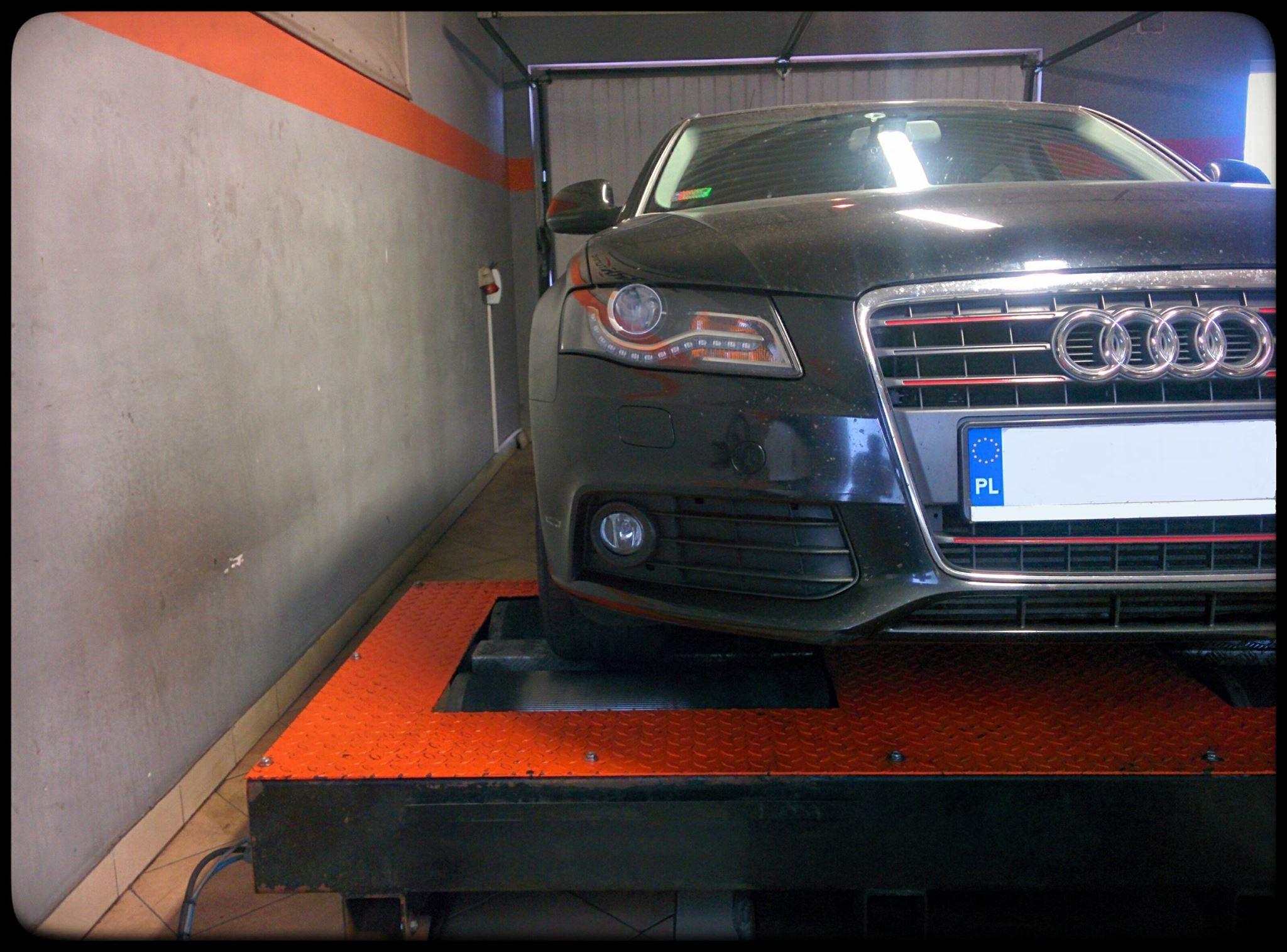 Audi A4 - po badaniu na hamowni wyraźnie widać wprzyrost mocy i momentu